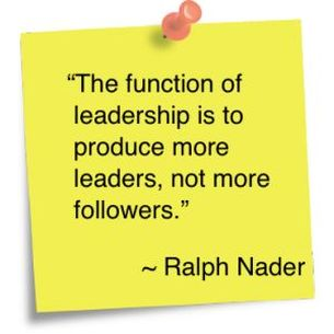 www.EvolutionaryConnections.co.uk Ralph Nader the function of leadership